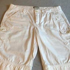 Banana Republic White Cargo Shorts
